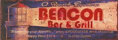 Beacon - Vintage Beach Sign: Coastal Home Decor, Nautical Decor, Tropical Island Decor & Beach Furnishings