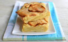 """Prăjitură invizibilă cu mere - rețeta originală franțuzească de """"gâteau invisible aux pommes"""". Cum se face o prăjitură cu mere și aluat de Flan, Wines, Food To Make, Dessert Recipes, Yummy Recipes, Sandwiches, Deserts, Food And Drink, Gluten Free"""