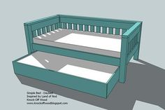 How to build a trundle bed- would love to do in Julia's room for guests and sleepovers