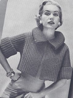 Knitting Patterns Vintage Vintage Knitting Pattern To Make Bulky Box Shorty Jacket Car Coat Sweater Bulkys & Garde… Beginner Knitting Patterns, Sweater Knitting Patterns, Knit Patterns, Knitting Tutorials, Stitch Patterns, Vintage Crochet Patterns, Vintage Knitting, Vintage Coat, Vintage Sweaters
