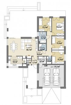 Nela IV - Dobre Domy Flak & Abramowicz Beautiful House Plans, Beautiful Homes, Architect House, Small House Plans, Cool House Designs, Modern Kitchen Design, Planer, Beach House, Pergola