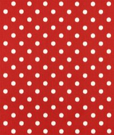 Premier Prints Outdoor Polka Dot American Red Fabric likely valence front and back wide rectangular cutout pattern or frilly gathered?
