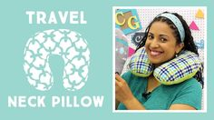 CLICK HERE FOR PDF DOWNLOAD AND SUPPLIES: ... - FREE DOWNLOADABLE PDF TEMPLATE: ... Travel Neck Pillow: Easy Sewing Tutorial with Vanessa of Crafty Ge. Tutorial, Easy, Sew, Sewing, Craft, Tuto,