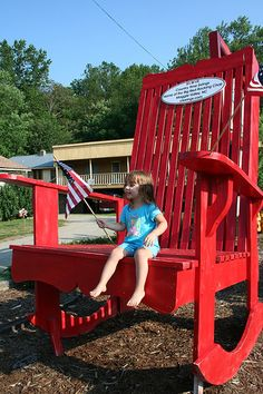 Giant Red Chair