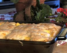 A tasty peach cobbler straight from Ohio's Amish Country