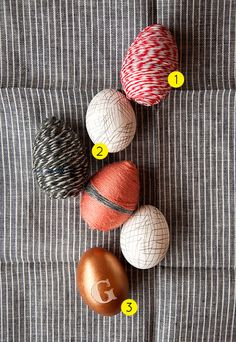 DIY Easter Eggs! From twine and copper leaf to paint markers and necklace-making. #easter #eggs #diy #necklaces