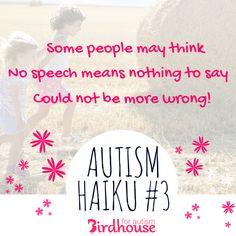 #Autism #AutismHaiku