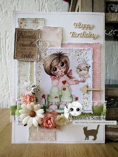 A card made for the My Bestie International -challenge embossing 27-10-2014