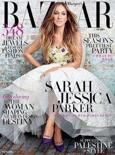American actress and style icon Sarah Jessica Parker graces the cover of Harper's Bazaar magazine Arabia, December 2014 issue. Photographed under the lens of Alexei Hay and styled by Sally Matthews. The 49-year old exuded elegance posing in lavish designer looks from Oscar de la Renta, Reem Acra, Chloe, Saint Laurent, Giambattista Valli, Gucci andRead More