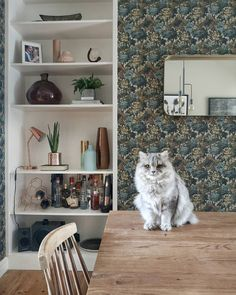Customer Rooms and Inspiration Woodchip and Magnolia – Woodchip & Magnolia Green Wallpaper, Colorful Wallpaper, Green Home Decor, Beautiful Patterns, Shag Rug, Magnolia, Dining Room, Rooms, Wallpapers