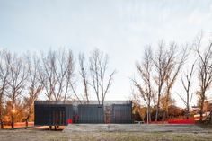 Atelier Mob designs a flood-resistant canoeing station in Portugal   News   Archinect