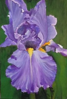 "Iris Art - ""Lavender Lady"" -Acrylic Painting by Lorraine Skala - prints and notecards available at lorriskala@aol.com"