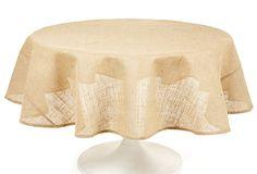 Burlap Round Tablecloth.