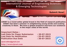 IJESET solicits proposals for Special/ themed issues focusing attention on a latest topic for prospective Publication Engineering Science, Science And Technology, Research Publications, Global Brands, Proposals, Wedding Proposals, Proposal, Marriage Proposals, Submission