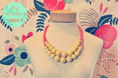 DIY Jewelry DIY Necklace  : DIY statement necklaces!