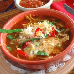 A fantastic mexican tortilla soup recipe you will love.. Chicken Tortilla Soup Recipe from Grandmothers Kitchen.