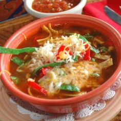 A fantastic mexican tortilla soup recipe you will love.. Chicken Tortilla Soup Recipe from Grandmothers Kitchen.