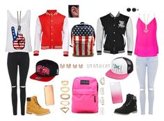 I ♡ USA. by missdidi2001 on Polyvore featuring polyvore, mode, style, Lavender Brown, Topshop, Timberland, JanSport, Forever 21, Charlotte Russe, Maison Margiela, Givenchy, Minor Obsessions, Volcom, J.Crew, Goldgenie, fashion and clothing