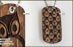 Owl Dog Tag by Omerica Organic.  Use rep code LimyGirl for 20% off your first purchase.