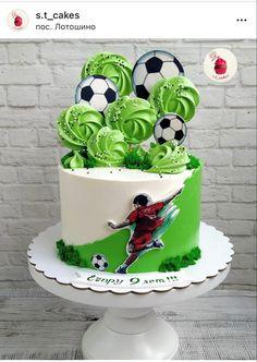 Football Birthday Cake, Candy Birthday Cakes, Football Themed Cakes, Cake Design For Men, Soccer Cake, Fantasy Cake, Sport Cakes, Mom Cake, Beautiful Birthday Cakes