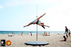 Justine McLucas pole dance training outdoors wearing Asymmetric Crop Top and Split Micro Shorts by Wink, encrusted with crystals. Yoga Wear, Gym Wear, Dance Wear, Pole Dancing Clothes, Pole Moves, Dance Training, Aerial Arts, Summer Prints, Funky Fashion