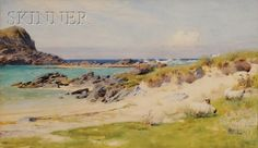 Arthur Trevithan Nowell (British, 1862-1940) The Seashore Colonsay | Sale Number 2517B, Lot Number 458 | Skinner Auctioneers