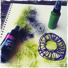 Handmade-glue-stencils-29 - use glue gun to create stencils on Teflon paper, freezer paper or parchment paper