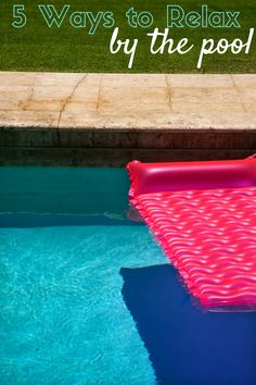 Try these pool games to enjoy summer! Relax by the pool with these ideas that include unique pool rafts, games, and books!