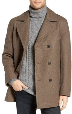 Michael Kors Men's Wool Blend Double Breasted Peacoat on ShopStyle