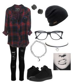 """Hipster"" by kute-clothes on Polyvore featuring Dorothy Perkins, Roberto Cavalli, Coal, Converse and Boohoo"