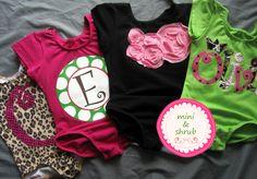 Applique Baby Toddler Girls Leotard Value Bundle Choose Any Four Designs. $128.00, via Etsy.