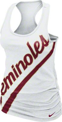 26d79d8d13a65 Florida State Seminoles Women s White Nike Boyfriend Tank Top Florida State  Apparel