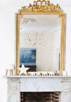 Decorative star on mantelpiece