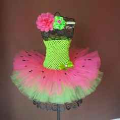 Check out this item in my Etsy shop https://www.etsy.com/listing/237373555/lime-green-and-fuschia-watermelon-tutu