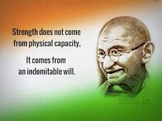 strength gandhi picture quote