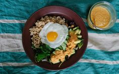 Bon Appétempt: Carrot Ginger Showstopper a.k.a. Grain Salad with Carrot Ginger Dressing (and a Fried Egg)