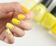 """ZigiZtyle: Yellow ombre Models Own Banana Split, China Glaze Lemon Fizz, OPI I Just Can't Cope-acabana, Butter London Pimms, The """"It"""" Color Nailart, Banana Split, Classy Chic, Casual Summer Outfits, Spring, Nail Colors, China Glaze, Nail Polish, Yellow"""