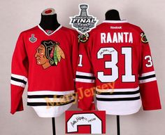 Only $34.88 please email me at maryjerseyelway@gmail.com for Blackhawks 31 Antti Raanta Red Autographed 2015 Stanley Cup Stitched NHL Jersey
