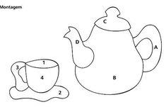 шаблон чайник и чашка