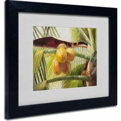 Trademark Fine Art Coconut Palm I Canvas Art by Victor Giton, Black Frame, Size: 16 x 20, Multicolor