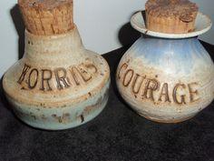Humorous Pottery Jugs Vintage Motovational by SocialmarysTreasures, $5.99