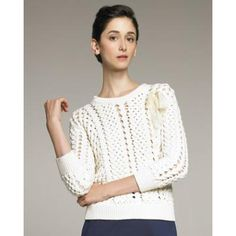 Women's RED Valentino Open-Knit Sweater prod139100438skuIVORY