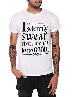 """<p>Tap the Marauder's Map with your wand and recite these words: """"I solemnly swear that I am up to no good.""""</p>  <ul> <li>100% cotton</li> <li>Wash cold; dry low</li> <li>Imported</li> <li>Listed in men's sizes</li> </ul>"""