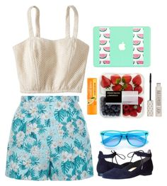 """Fruity feeling"" by aby-ocampo ❤ liked on Polyvore featuring New Look, Xhilaration, Paul Green, Topshop and ZeroUV"