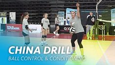 China drill: Ball control and conditioning Volleyball Practice, Volleyball Ideas, Volleyball Training, Volleyball Drills, Coaching Volleyball, Physical Education, Conditioning, Bump, Effort