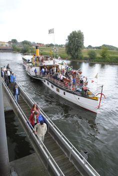 Elbe verbindet beide Partnerstädte