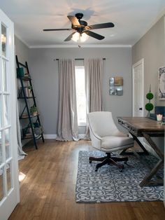 Fixer Upper Home Office Craft Room | Photos | HGTV's Fixer Upper With Chip and Joanna Gaines | HGTV
