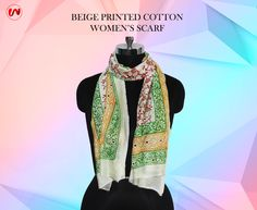Complete your look by teaming up the Beige Cotton Scarf with your attire. Buy Now:https://goo.gl/jf1eHZ #thewomenwear #Fashion #Scarf #Accessory