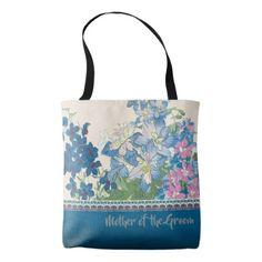 Blue Flowers Favorite Bridesmaid Gift Tote Bag - accessories accessory gift idea stylish unique custom