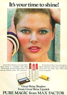 1975 Christie Brinkley for Max Factor.....yikes!